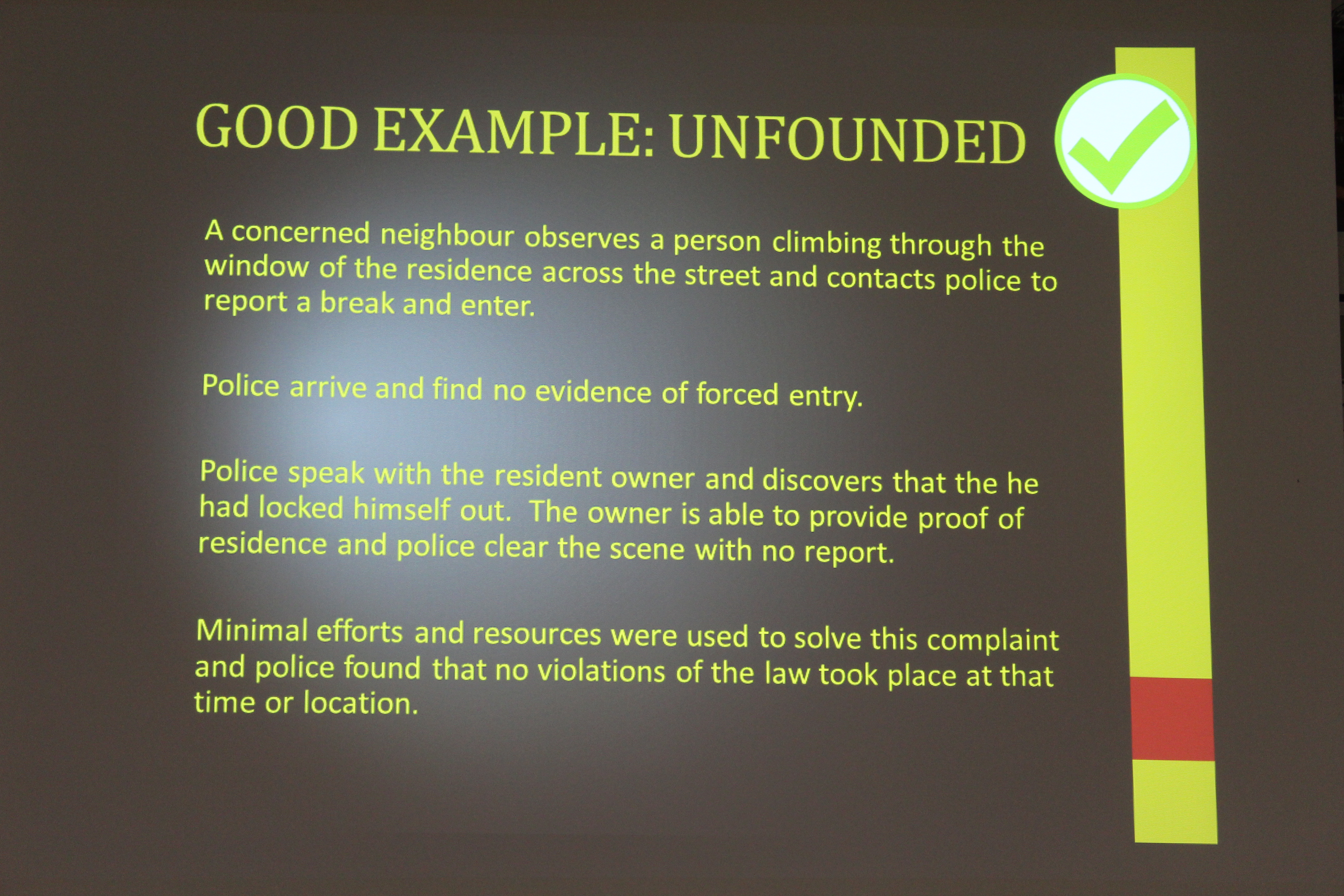By Photo Congress || Unfounded Complaint Definition